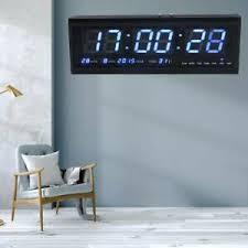 details zu digitaltuhr led wanduhr büro uhr tischuhr 12 24 stunden mit kalender temperatur