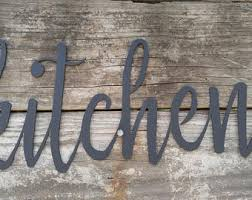 Metal Kitchen Signs Farmhouse Wall Decor Words Rustic
