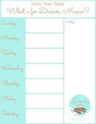 Printable Weekly Menu Planner Template New Best Images On Of Luxury Dinner Party Free Templates