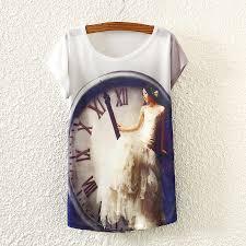 white short sleeve in wedding dress print t shirt ts1500086