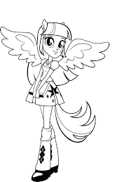 Equestria Girls Coloring Pages Twilight My Little Pony Sparkle