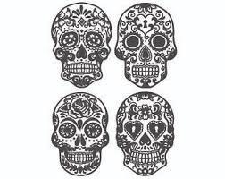 Sugar Skull Pumpkin Carving Patterns by Sugar Skull Etsy