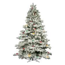 Vickerman 9Ft Flocked White On Green 2059T Christmas Tree 900 Multi Color Lights