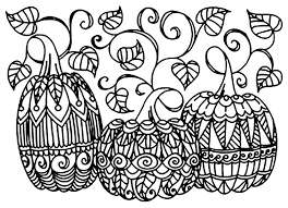 Scary Halloween Pumpkin Coloring Pages by Halloween Three Pumpkins Halloween Coloring Pages For Adults