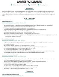 Good Administrative Assistant Resume Sample With Profile Qualification