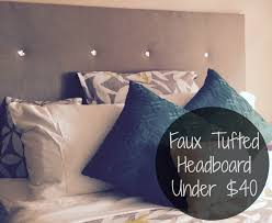 Diamond Tufted Headboard With Crystal Buttons by Do It Yo U0027self Faux Tufted Headboard Under 40 Easy Youtube