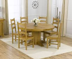 Round 6 Seater Dining Table Amusing Decor Charming Light Brown Rustic Wooden For Stained Ideas