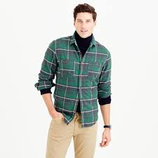 J.crew Wallace & Barnes Heavyweight Flannel In Marlow Plaid In ... Jcrew Wallace Barnes Pieced A2 Bomber Jacket In Green For Men Jcrew Mens Lweight Military Jacket Garment Cpo Black Lyst English Wool Turtleneck Sweater Sherpacollar Contrast August 2016 Style Guide Pleated Shorts Guides Shetland Cardigan Military Denim Workshirt Sussex Quilted Marled Cotton Anchorknit Japanese Blue Shortsleeve Indigo Sweatshirt