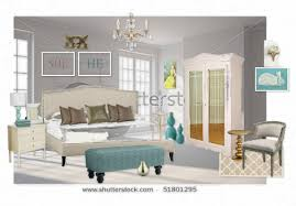 Romantic Teal White and Gold Bedroom by colettefb