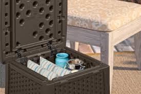 Suncast Garden Shed Taupe by Suncast Elements End Table With Storage Suncast Corporation