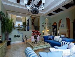 2014 Trend Modern Mediterranean Living Room With Blue Color