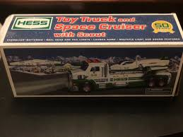 HESS TOY TRUCK And Space Cruiser With Scout 50 Year Anniversary ...