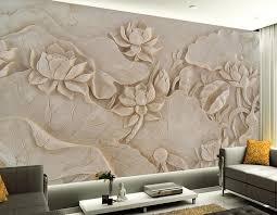 custom 3d tapete lotus relief wandbild design 3d wandbilder wallpaper für wohnzimmer wandbild 3d tapete