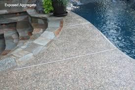 Mortex Kool Deck Elite by Exposed Aggregate Pool Decks Lagoon With Step Concrete Edge
