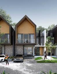 100 Modernhouse Photo FACADEJANGGALATYPE95view2 Tropical Modern House 1 Desain