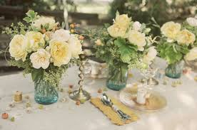 Unique Wedding Table Flower Centerpieces With Rustic Vintage Reception