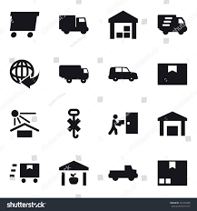 100 Pickup Truck Warehouse 16 Vector Icon Set Delivery Stock Vector Royalty Free