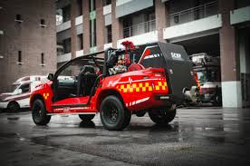 100 Fire Truck Red Rhino LF5G Fire Truck Douses Flames In Small City Spaces