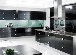 Kitchen Modern Black with Modern Black Kitchen Cabinets