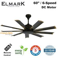 60 Inch Ceiling Fans With Remote by Elmark 9he60 60 Inch 9 Blade Remote Ceiling Fan Dc Motor Rusty