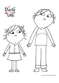 Charlie And Lola Colouring Pages