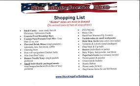 Halloween Candy List by Stockings For Soldiers Town Of Millville Sussex County Delaware