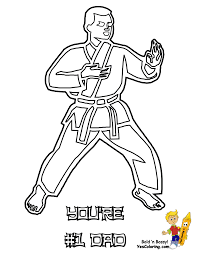 You Are 1 Dad Karate Coloring For Fathers Day At YesColoring