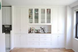 Builtin Wall Cabinets For Unique Dining Room