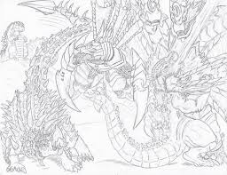 Colouring Vs Coloring Godzilla Gigan Take Two By Deadpoolrus On Deviantart