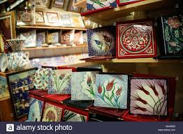 painted tiles for sale at the grand bazaar istanbul turkey