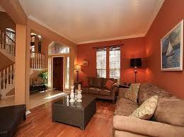 Warm Colors Living Room Interior Design Ideas With Calm Paint