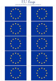 Small EU Europeans Union Flag Printables