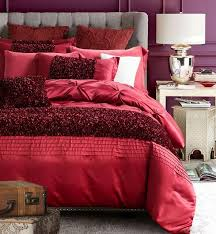 Red Luxury Bedding Set Designer Bedspreads Cotton Silk Sheets