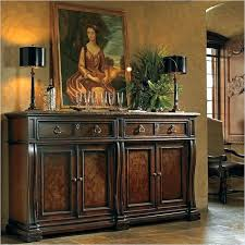 Dark Wood Buffet Black Dining Antique With Mirror Sturdy Wooden Table Oak