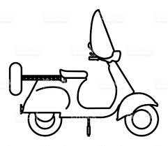 Scooter Drawing Isolated Icon Design Royalty Free Stock Vector Art