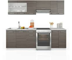 vicco küchenzeile 240 cm edelgrau ab 306 90