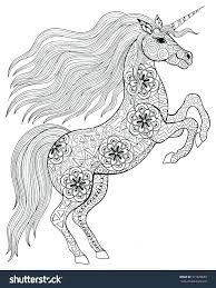 Hard Coloring Pages Of Unicorns Unicorn Plus Abstract