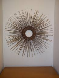 Vintage Mid Century Modern Starburst Wall Sculpture In The Style Of Curtis Jere