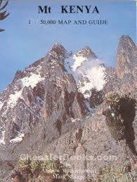 MOUNT KENYA CLIMBING TOPO MAP AND GUIDE 150000 Wielochowski Andrew And Mark Savage Chessler Books