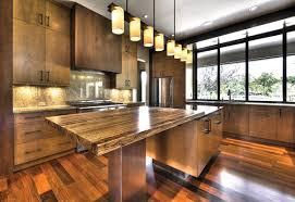 kitchen decoration using brown kitchen wood countertop