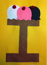 Letter I Craft Is For Ice Cream Abc CraftsAlphabet ArtPreschool