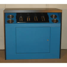 All State OCS360BLUE Office Coffee Stand With Shelf Blue