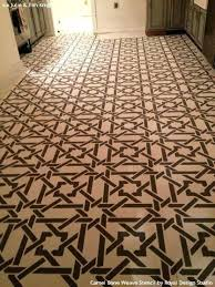 stained wood floor with camel bone weave moroccan stencils royal