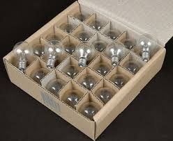 25 pack of g40 light bulbs 5 watt candelabra base clear