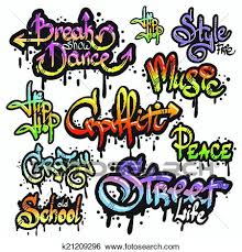 Clip Art Of Graffiti Word Set K21209296