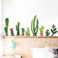 kaktus wandaufkleber grüne pflanzen tropisches design für klassenzimmer büros schlafzimmer wohnzimmer heimdekoration ein kaktus
