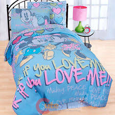 Minnie Mouse Bedroom Set Full Size by Disney Minnie Mouse Neon Twin Full Size Comforter U0026 Shams Set