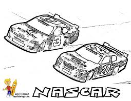 Coloring Of NASCAR Dale Earnhardt Jr At YesColoring