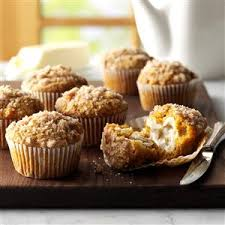 Libbys Pumpkin Muffins Cake Mix by Pumpkin Apple Muffins With Streusel Topping Recipe Taste Of Home