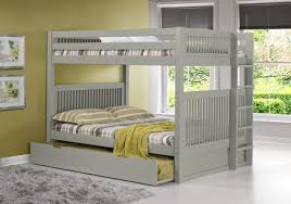 white full over full bunk bed with trundle Archives